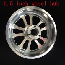 Moyeu de roue avant/arrière en Aluminium   90/65-6.5, moyeu de jante avant/arrière de 6.5 pouces pour Scooter avec pièces daxe de roue