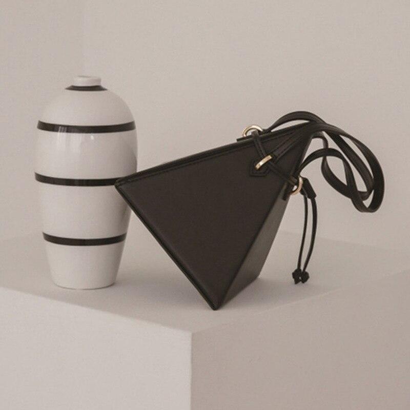 Bolsos de hombro triangulares geométricos para mujer bolsos de mano de lujo de diseñador de cuero Pu para mujer bolsos de mano para señoras nuevos