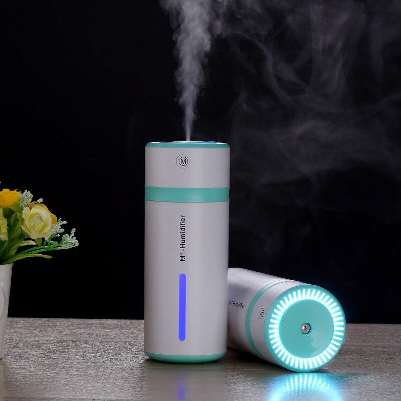 EASEHOLD 230ml USB Bottle Humidifier Ultrasonic Night Light Car Air Humidifiers Mist Maker Mini Household Air Purifier Colors