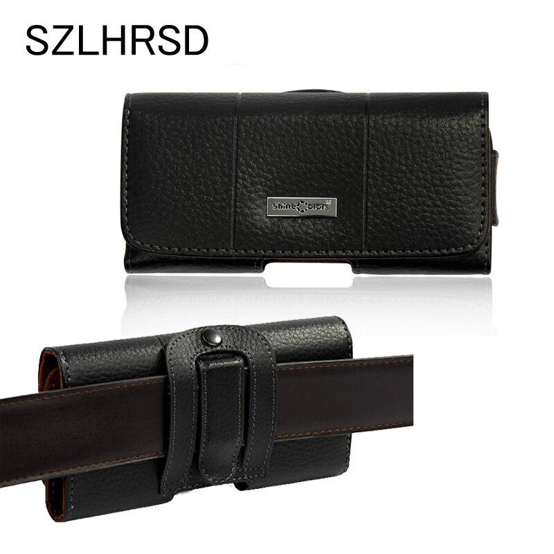 SZLHRSD Retro Echtes Leder Taille Gürtelclip Beutel Decken Für Leagoo Z6 Fall für Meiigoo S8 Telefon Tasche für BYLYND M18/Ulefone T3