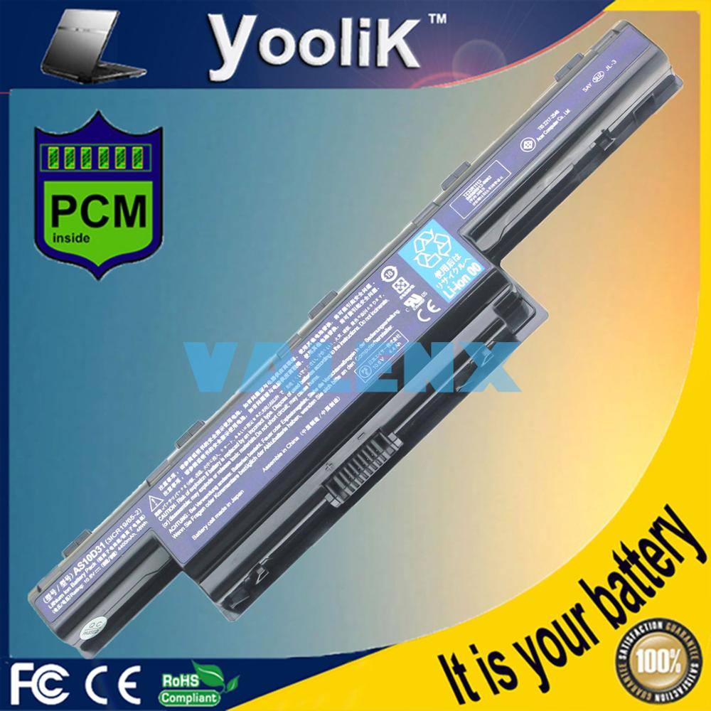 Batería del ordenador portátil para Acer Aspire V3 5741, 5742, 5750, 5551G...