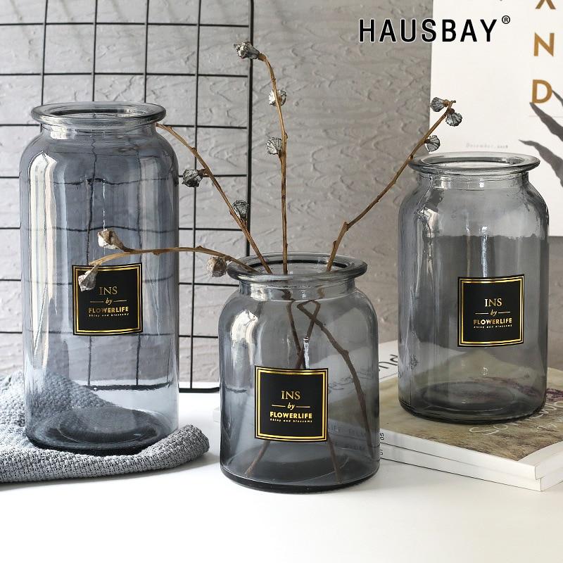 Ornamentos Vaso de Vidro Criativo moderno Mobiliário Doméstico Artesanato Bouquets de Casamento Vaso De Flores Mesa de Escritório Decoração TS025