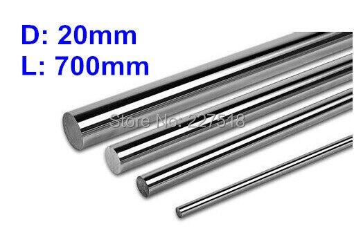1 pieza D20mm L700mm eje lineal 20mm LM 700mm diámetro del eje largo para bola lineal LM20UU 20mm rodamiento lineal barra lisa