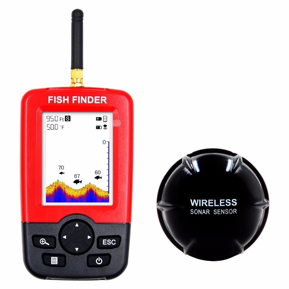 Alarma de envío gratis gran oferta 100M Sonar portátil LCD buscador de peces inalámbrico señuelo de pesca eco buscador de peces