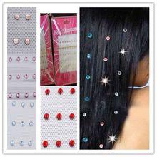 2 Bags Beautiful Hot Drilling Crystal Glass Rhinestone Hairdressing Women Fashion New Stylish Hair D