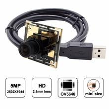 ELP Wide Angle Mjpeg 5megapixel Hd UVC Mini USB Webacm Cam 5MP OV5640 CMOS Camera Module for Robot Vision /Machine Vision