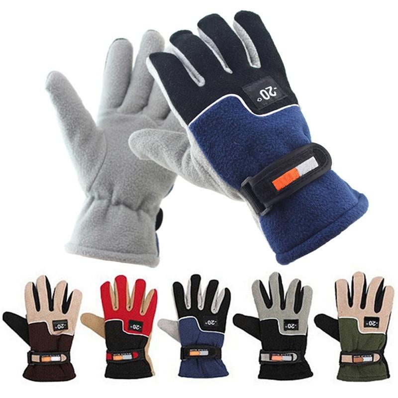 Guantes Térmicos de invierno para hombre, guantes Térmicos para moto, esquí, Snowboard, guantes de lana Polar, guantes de ciclismo, 5 colores