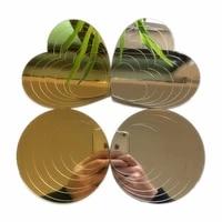 Autocollants muraux en acrylique miroir 3D Vivo  10 pieces  decoration de salle de bain pour chambre denfants  miroir de mariage  etoiles scintillantes dans la nuit  DIY bricolage