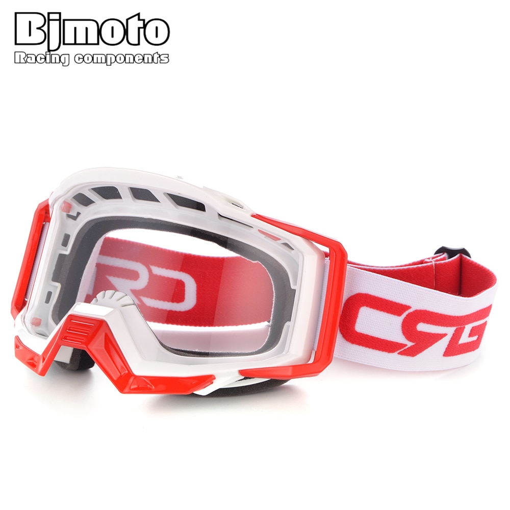 Bjmoto incrível motocross óculos de proteção bmx fora da estrada da bicicleta sujeira capacetes da motocicleta google sport óculos oculos moto