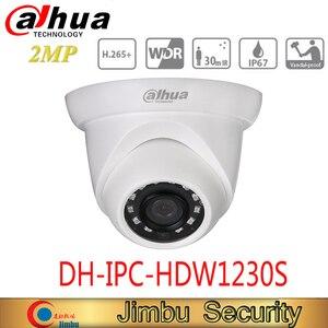 original dahua 2mp dome camera DH-IPC-HDW1230S international model can support poe camera video surveillance камера наблюдения