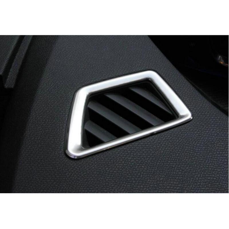 STYO Dianteira Do Carro de Aço Inoxidável Carro Ar Condicionado Tomada Decoração Tampa Da guarnição Para 2017 LHD Peugeots 3008 5008 GT