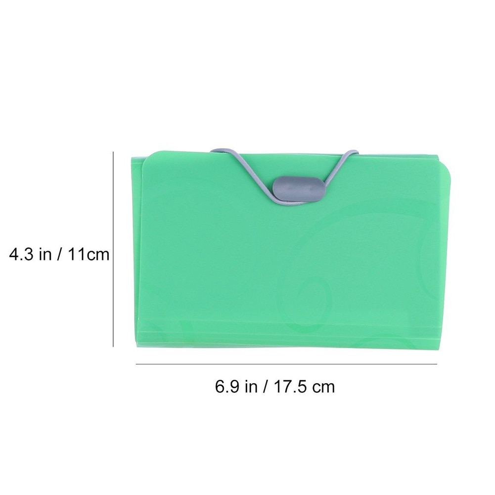 Document Folder Receipt Wallet A6 B6 Paper Expanding File Plastic Bill Accordion Letter Pockets Organizer Small
