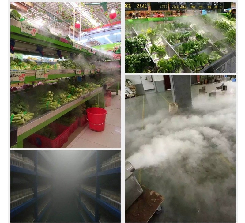 Ultrasonic nebulizer+power supply Vegetables humidifier fresh keeping Ten head atomizer workshop spray industry humidification enlarge