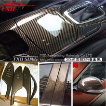 High Glossy Film 2D Car Sticker 2D gold twill Carbon Fiber Film DIY Vinyl Film Auto Wrapping Waterproof PVC Covering Film
