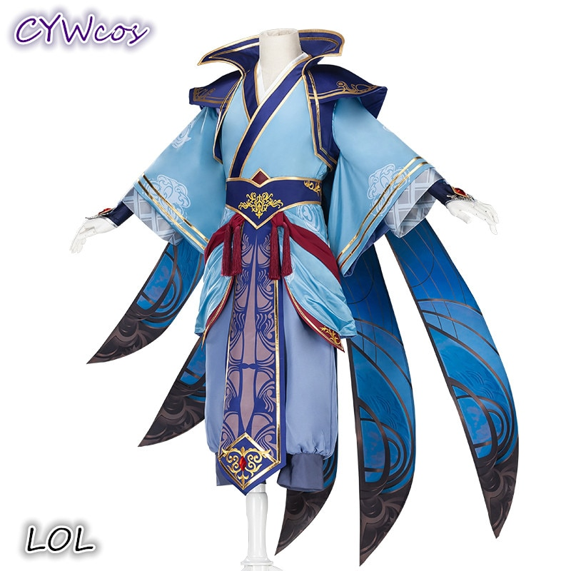 Disfraz de Cosplay de LOL the Blades Shadow Talon, nuevo disfraz de Halloween, abrigo + Top + Pantalones + mangas