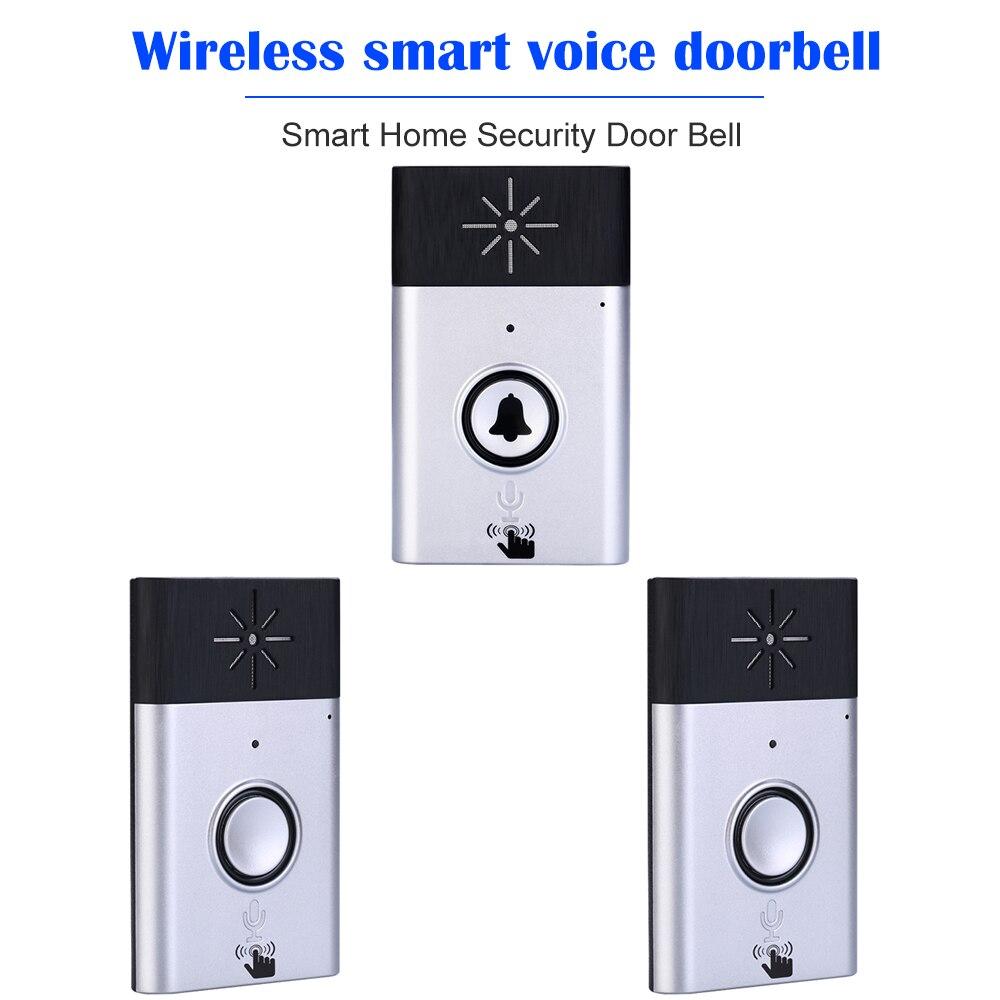 Timbre de puerta de seguridad inteligente, timbre de voz inalámbrico, Monitor de conversación de 2 vías con botón de unidad exterior, Unidad de recepción interior
