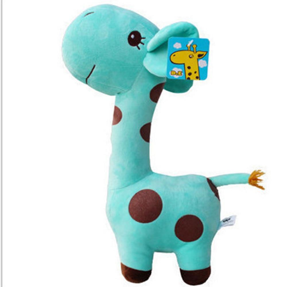 Child Girls Animal Deer Giraffe Colorful Doll Gift Stuffed Plush Animals Toys for Kids Gift Daddy Chen 18cm Cute Plush Giraffe