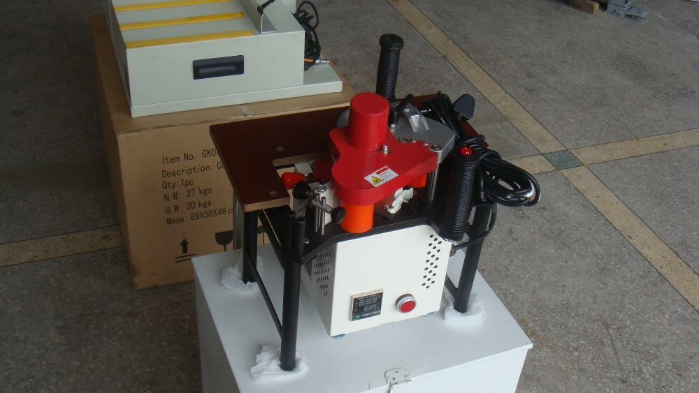 Straight or Curved Line Portable Edge Bander 110V/220V Adhesive Edge Banding Machine Woodworking Machinery JBD80 enlarge