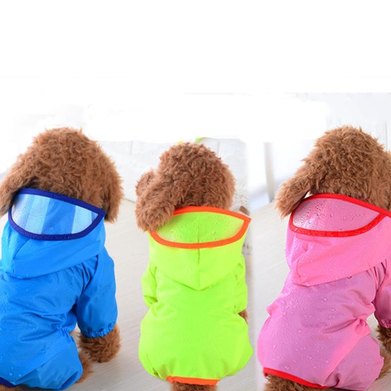 Mascotas perro con capucha impermeable ropa impermeable para grande mediano pequeño ropa para perros perro impermeables Poncho chubasquero de cachorro suministros