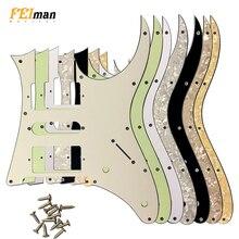 Pleroo الملحقات الغيتار pickguard مع مسامير دعوى لليابان MIJ ايبانيز RG 350 EXZ الغيتار Humbucker HSH بيك اب خدش لوحة