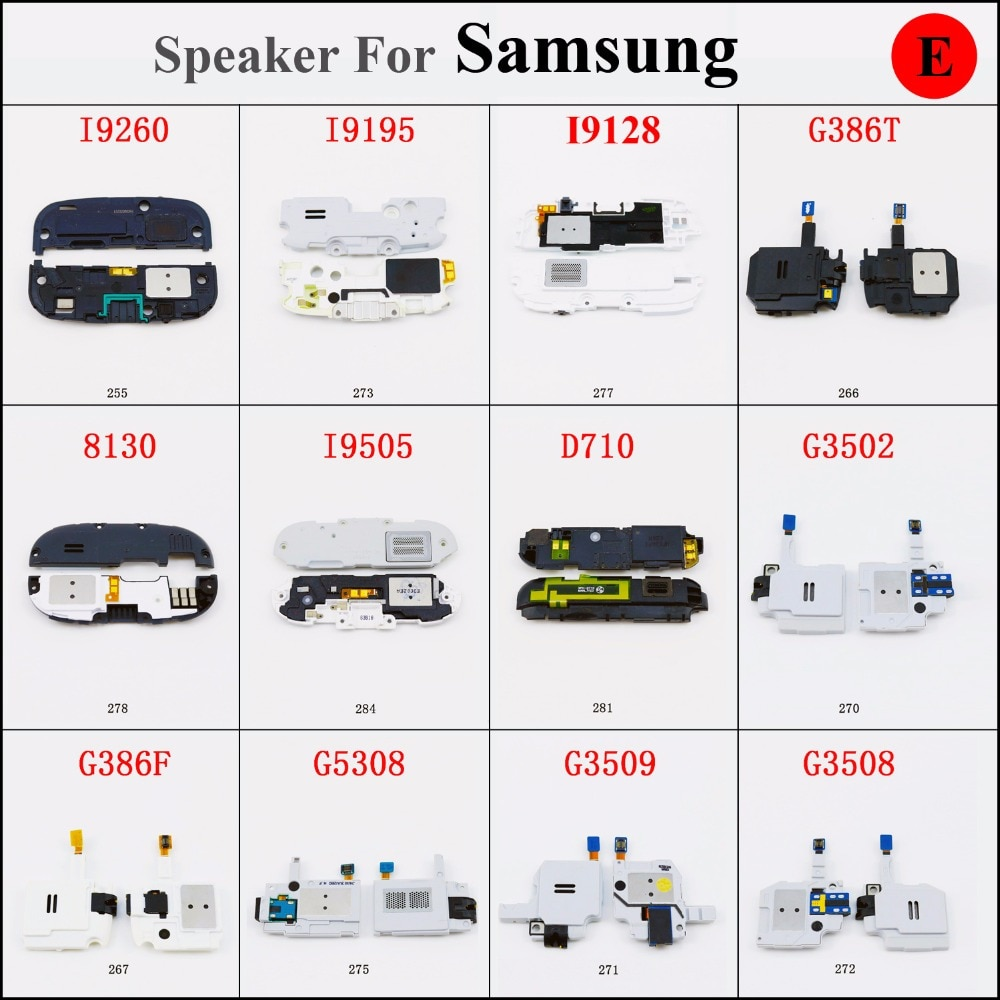 Altavoz timbre zumbador para Samsung I9260 I9128 G386T 8130 I9505 D710 G3502 G386F G5308 G3509 G350 S4 mini I9190 I9195 i9192