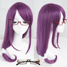 Tokyo Ghoul Guru Rize Kamishiro Long Wavy Purple Heat Resistant Synthetic Hair Cosplay Wig + Wig Cap