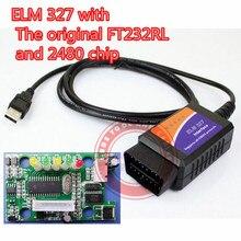 Elm 327 usb с оригинальным чипом FT232RL и PIC18F2480, программное обеспечение elm327 usb obd сканер