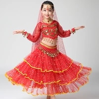 girl children child belly dance costume bollywood indian bellydance belly dancing costumes 4pcs sets egypt set egyptian clothing