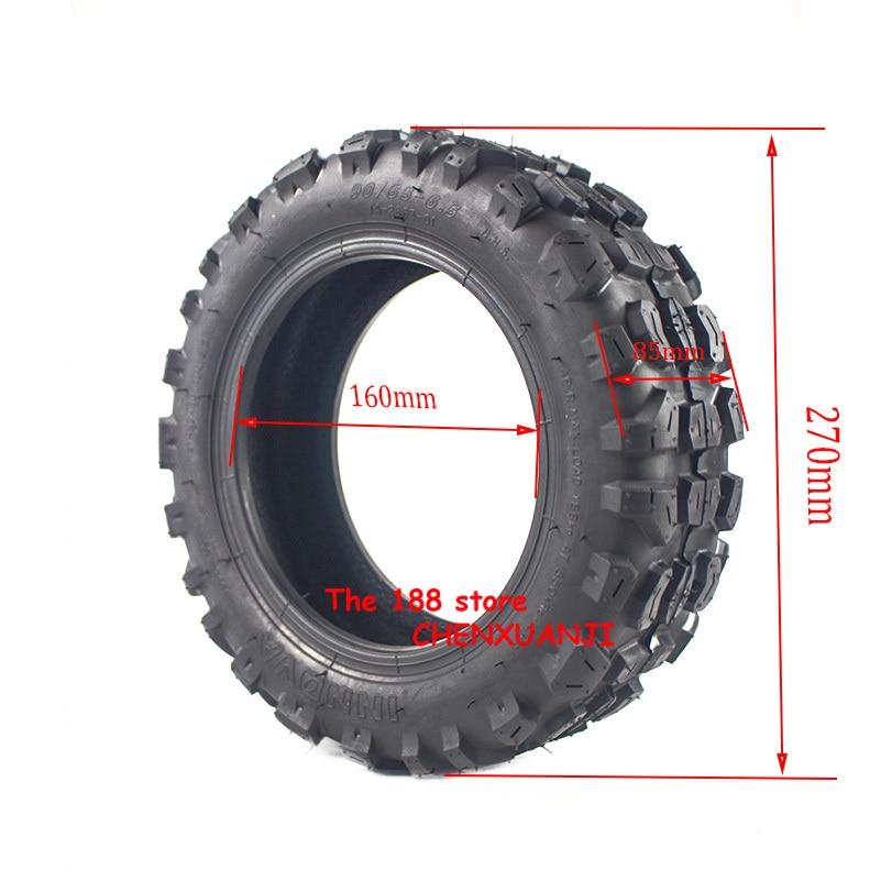 Neumático de Scooter mejorado 90/65-6,5, neumáticos sin cámara de vacío todoterreno para Scooter Eléctrico Xiaomi Mini Pro