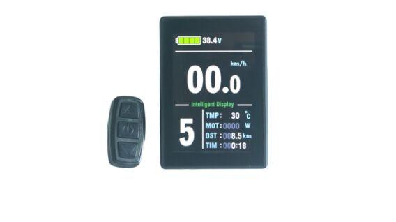 Livraison gratuite E-velo 24 v/36 v/48 v KT LCD8S Couleur Matrice Affichage Compteur Intelligent de Controle panneau Avec 5 Pins
