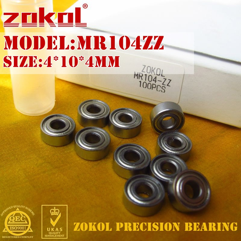 Rodamiento zokol MR104 ZZ miniatura rodamiento rígido de bolas 4*10*4mm