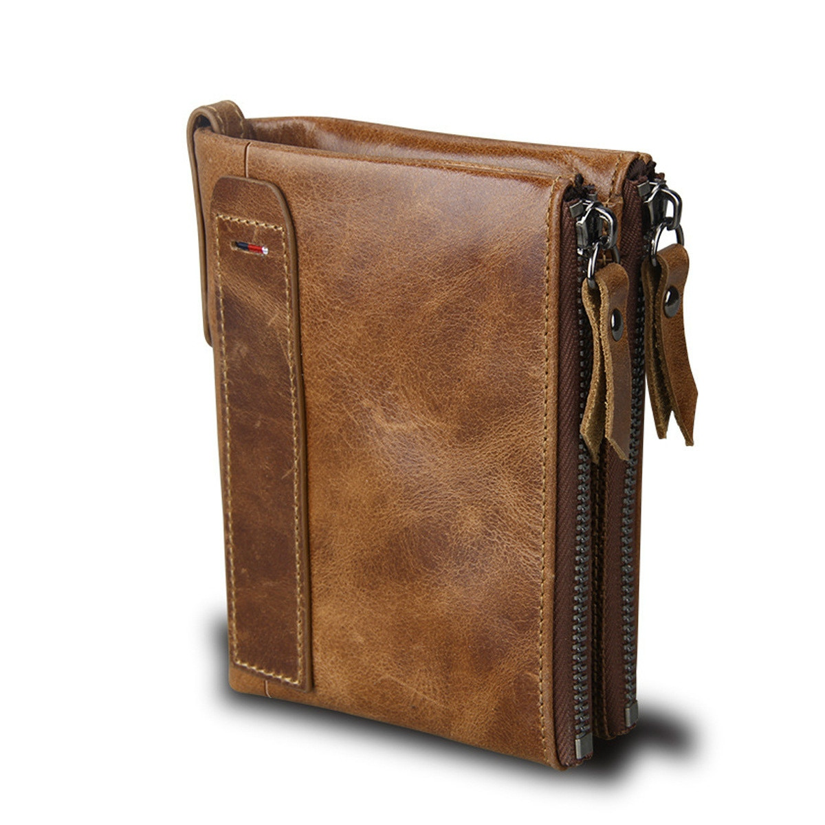 Brand Men Wallets Crazy Horse Genuine Leather Small Wallet Male Clutch Wallet Credit Card Holder Rea