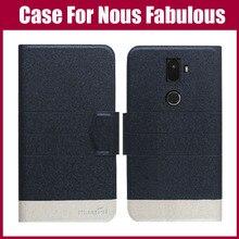 Hot Sale! Nous Fabulous Case New Arrival 5 Colors Fashion Flip Ultra-thin Leather Protective Cover For Nous Fabulous Case