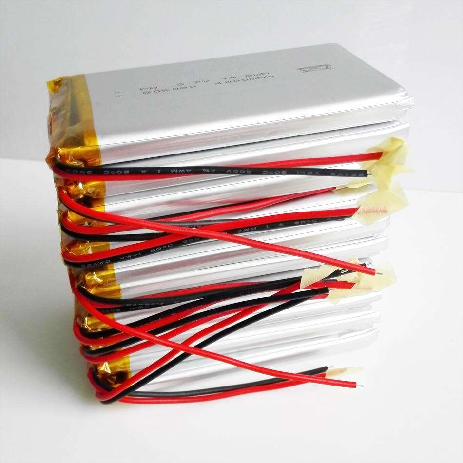 10 шт. 3,7 V 4000mAh литий-полимерная LiPo аккумуляторная батарея для Power bank PSP PAD переносной планшетный ПК Клавиатура для ноутбука 805080