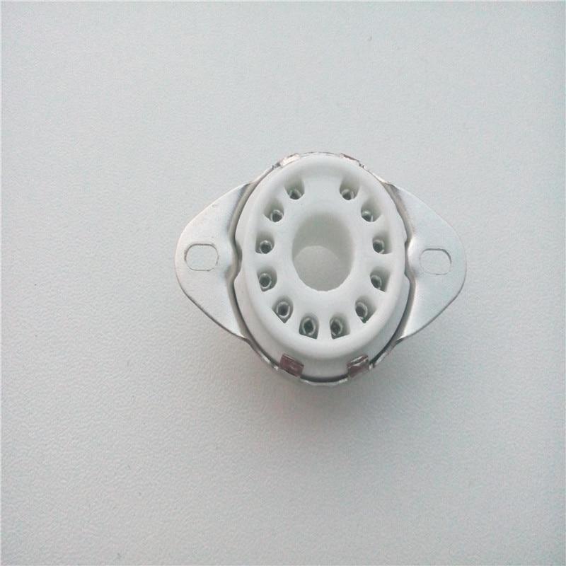 5 pièces en céramique tube prise siège GZC12-1-F 12 broches siège tube support argent pied pour 50CA10 tube amplificateur