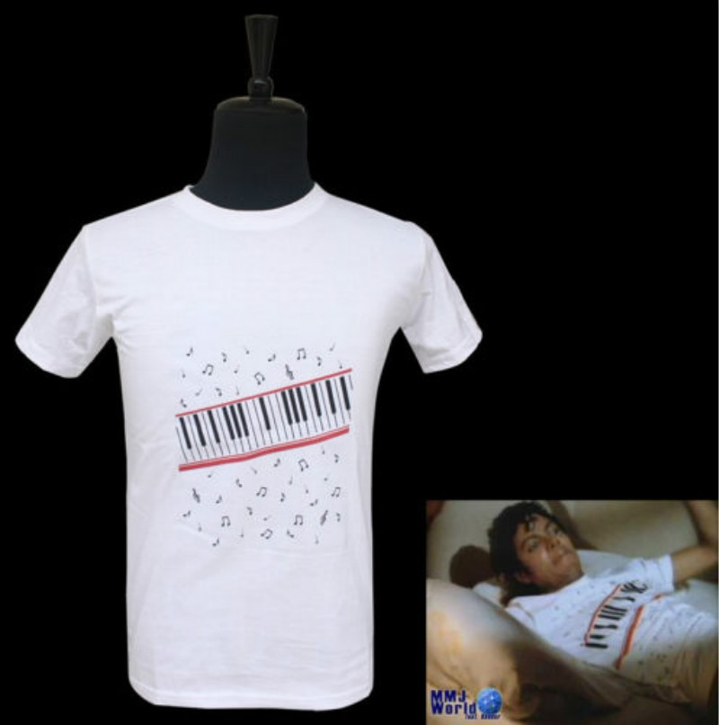Raro MICHAEL JACKSON MJ Piano a lo MTV de algodón Casual Punk Camiseta Tee