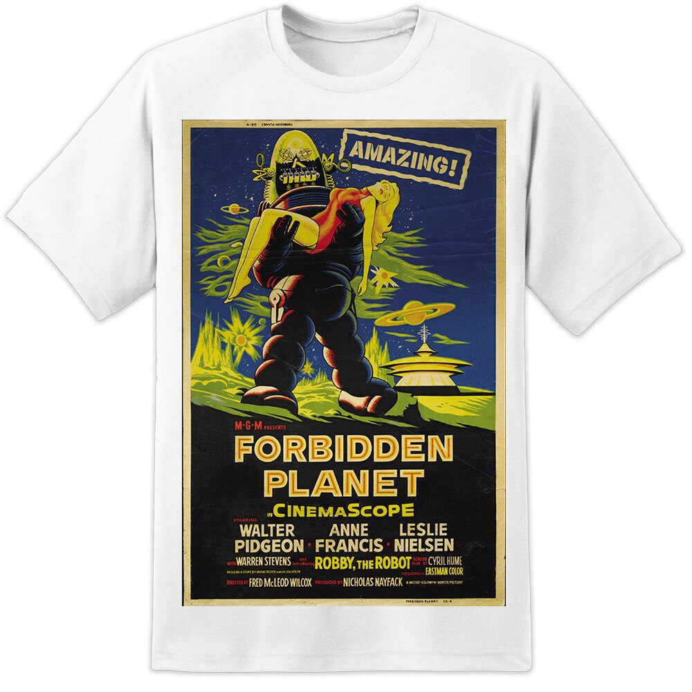 ¡Camiseta con cartel de película divertido planeta prohibido Retro 2019-impresión enorme! (S-3Xl) sudadera Retro Vintage