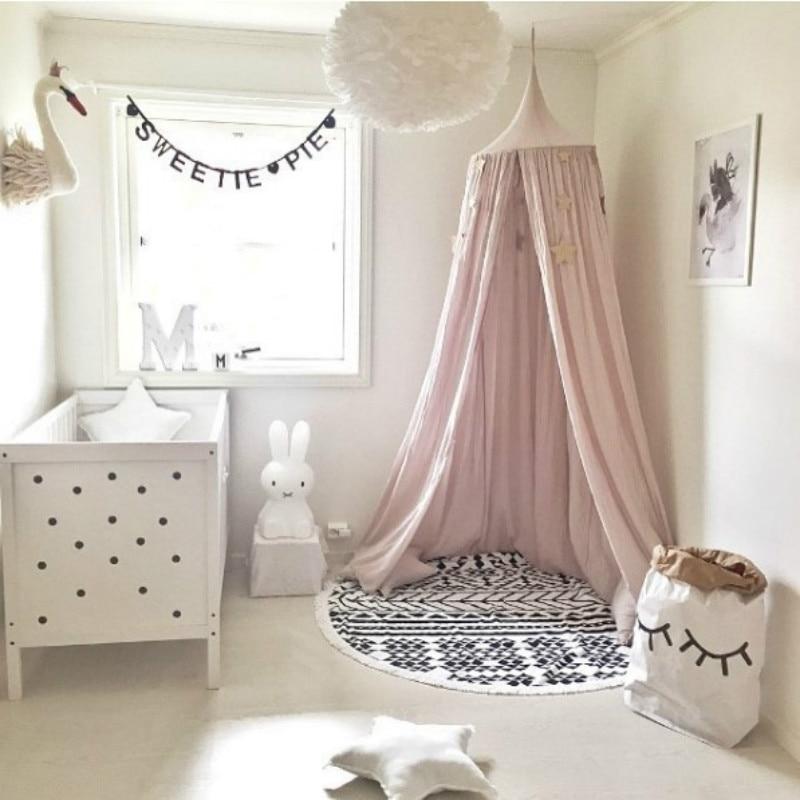 Palace design baby crib netting bed mosquito net kid tent room decor moustiquaire tenda infantil barraca infantil bebek cibinlik