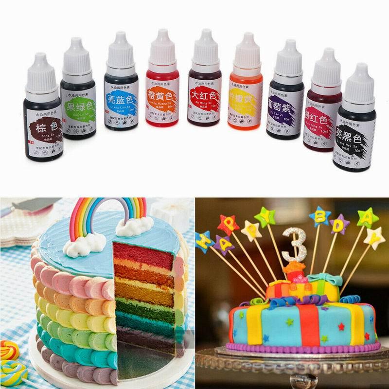 Цветной пигмент съедобный торт 1 шт. пищевой Макарон красящие ингредиенты крем 10 мл выпечки торт съедобный пигмент помадка