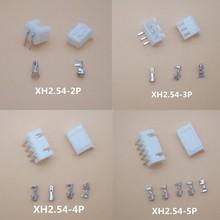 20sets XH2.54 2P 3P 4P 5, P 6P 7P 8P 9P 10P 12P conector de 2,54mm XH 90 ángulo Header + + Terminal para PCB Car