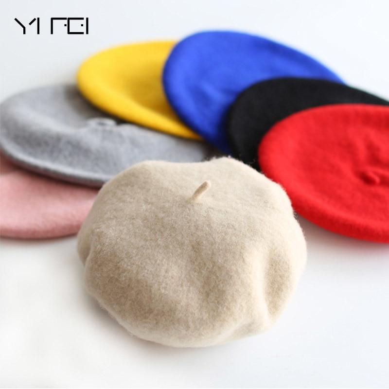 2020 Children Wool Berets Baby Kids Spring Autumn Winter Hats Boys Girls New Fashion Cap Children's