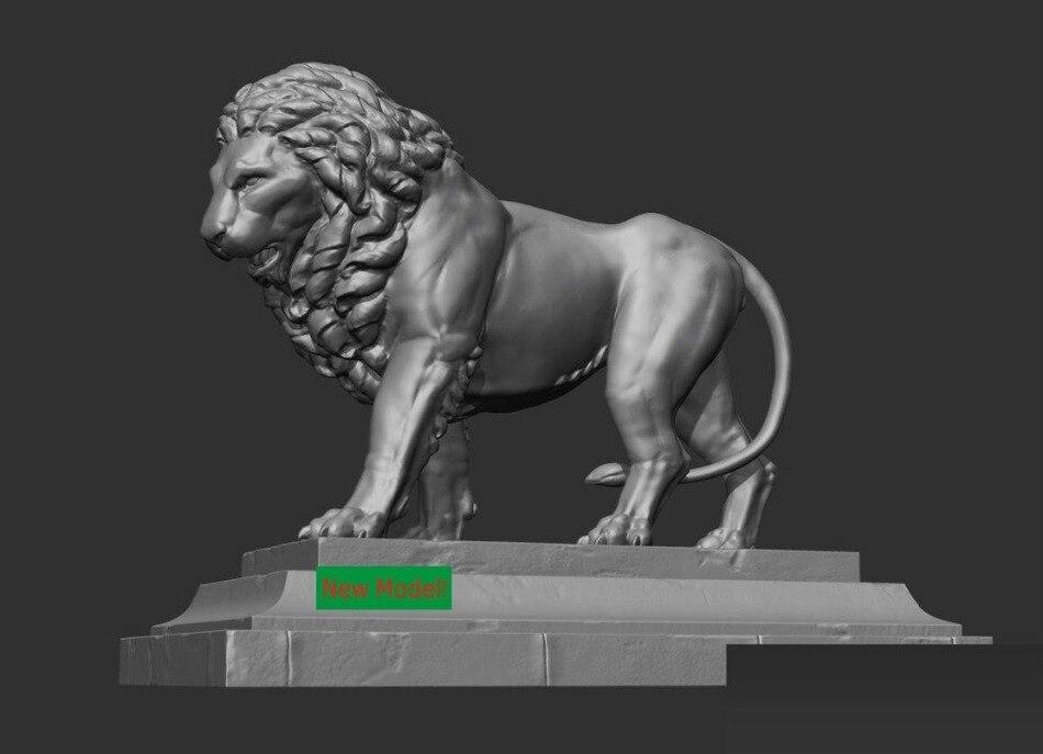 3D modell stl-format, 3D feste modell rotation skulptur für cnc-maschine lion