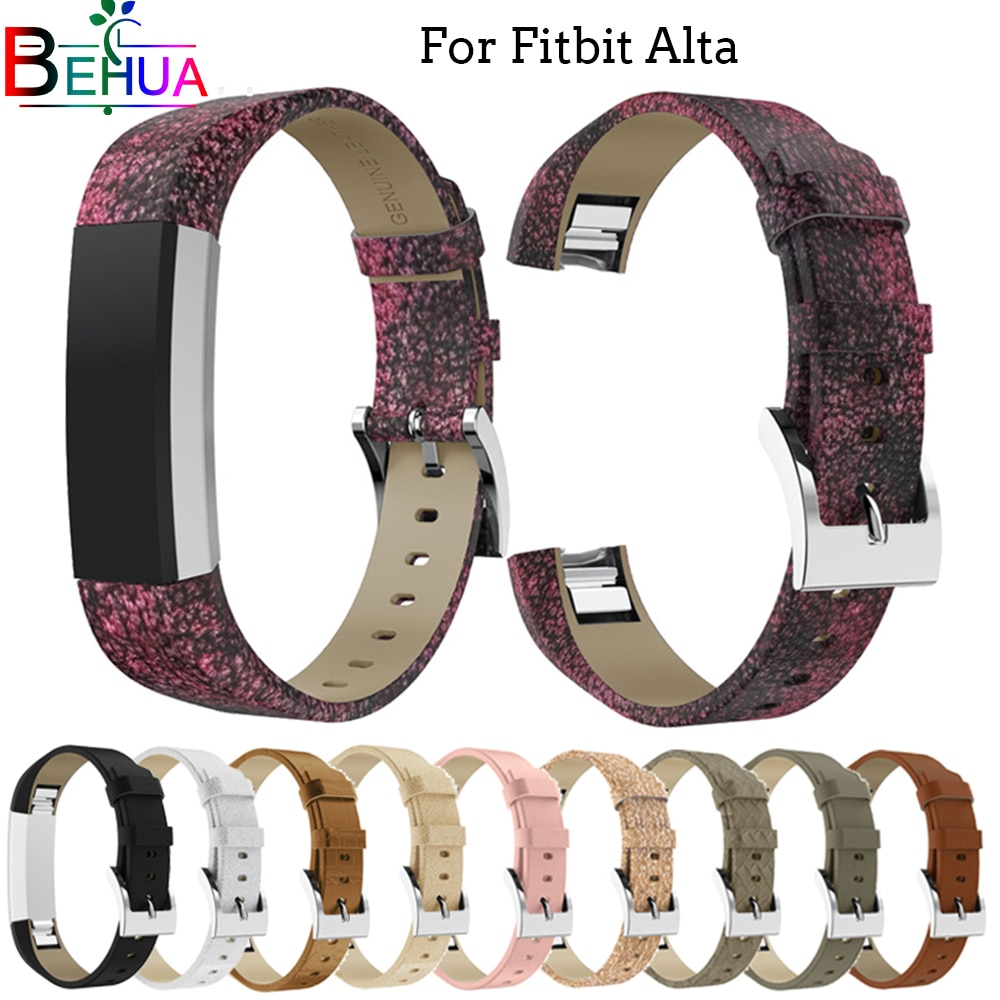 Luxury Genuine Leather Band Replacement Strap Bracelet for Fitbit Alta /Alta HR Tracker High Quality bracelet Bling strap band new high quality genuine stainless steel watch bracelet band strap for fitbit alta hr for fitbit alta watch wrist strap bands