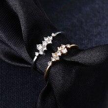 Nieuwe Patroon Hennep Bloemen Ring Plating Rose Goud Zilver Kleur Micro Zirconia Staart Ring Mode Vrouwen Accessoires Sieraden