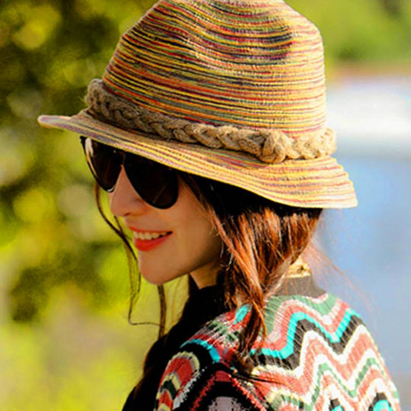 Women Summer Straw Sunhat Lady European Fashion Sun Block Seaside Elegant Hat Autumn Outdoor Acitivity Hat Sombrero Mujeres