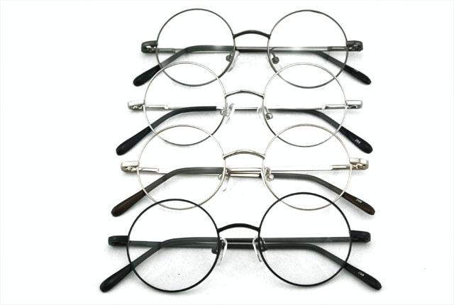 360 Vintage redondo 42mm Marco de gafas de borde completo resorte bisagra negro oro plata gris gafas retro marca nueva RX