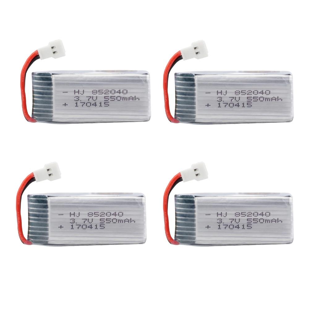 EBOYU 4pcs * 3.7V 550mAh 25c Lipo Battery for JXD 523 523W H43WH RC Quadcopter Drone