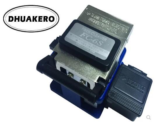 Livraison gratuite AB8 FTTH FC-6S avec collecteur de poubelle haute précision + clé Allen + sac trousse à outils de coupe de Fiber optique