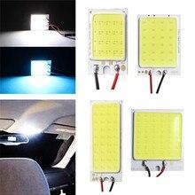 Blanco azul T10 Cob 16/24/36/48 SMD coche Led panel para vehículos lámparas Lámpara de lectura interior de coche bombilla luz Domo Festoon BA9S DC 12V