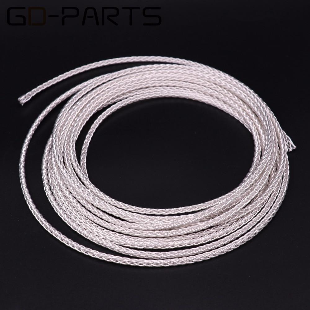 Cable de auriculares OCC plateado de teflón de alta pureza de GD-PARTS, Cable de Audio Hifi para auriculares, Cable de actualización de 8 núcleos, 19 Strandsx0.12 Flexible